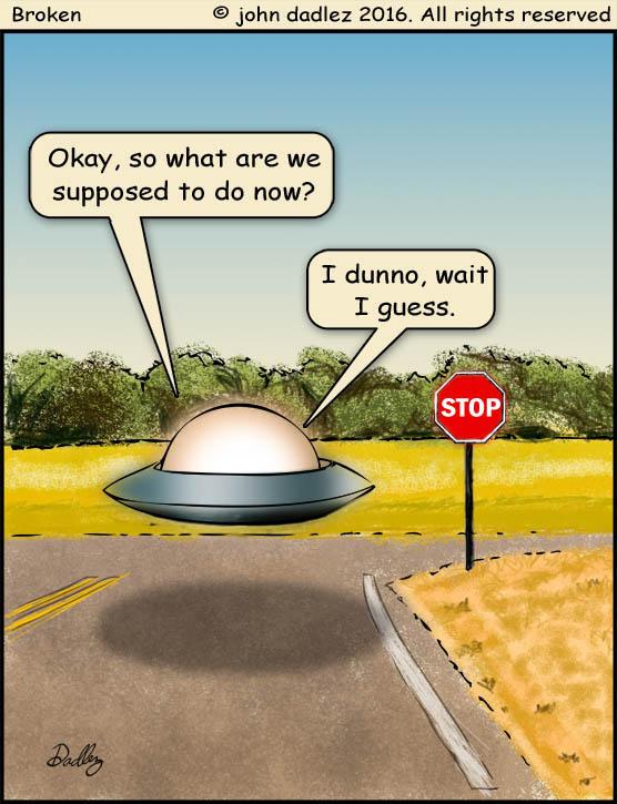 Broken comic - UFO