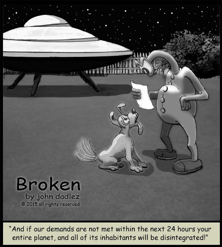 Broken Comics - Alien and the Dog